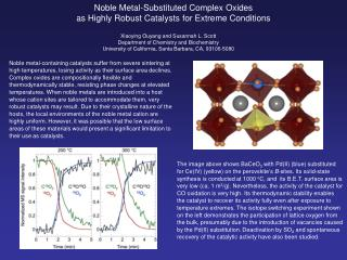 Noble Metal-Substituted Complex Oxides  as Highly Robust Catalysts for Extreme Conditions