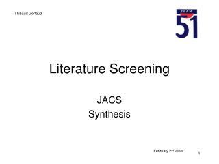 Literature  Screening