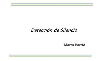 Detecci�n de Silencio