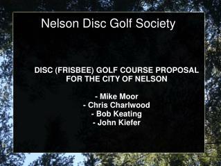 Nelson Disc Golf Society