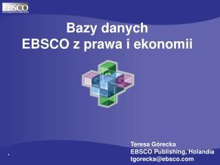 Bazy danych  EBSCO z prawa i ekonomii