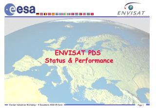 ENVISAT PDS  Status & Performance