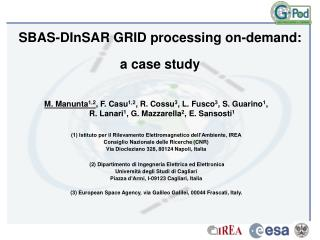 SBAS-DInSAR GRID processing on-demand: a case study