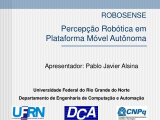 ROBOSENSE Percepção Robótica em  Plataforma Móvel Autônoma