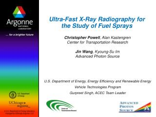 Ultra-Fast X-Ray Radiography for the Study of Fuel Sprays