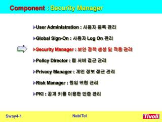 Component :  Security Manager