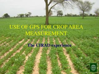 USE OF GPS FOR CROP AREA MEASUREMENT