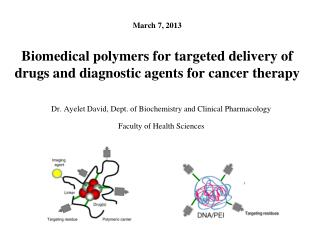Biomedical polymers for targeted delivery of drugs and diagnostic agents for cancer therapy