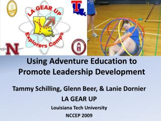 Using Adventure Education to Promote Leadership Development