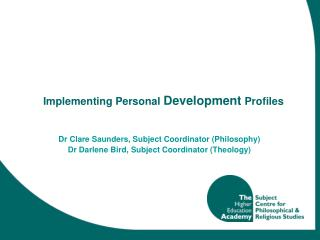Implementing Personal  Development  Profiles