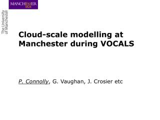Cloud-scale modelling at Manchester during VOCALS