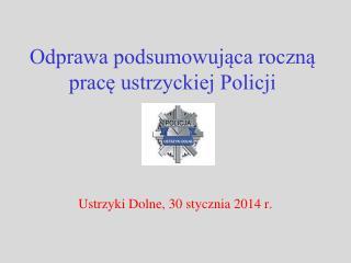 Odprawa podsumowująca roczną pracę ustrzyckiej Policji