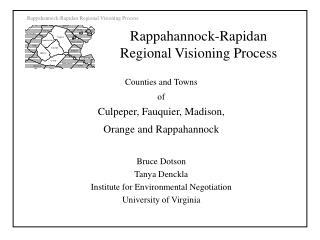 Rappahannock-Rapidan Regional Visioning Process
