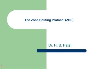 The Zone Routing Protocol ZRP