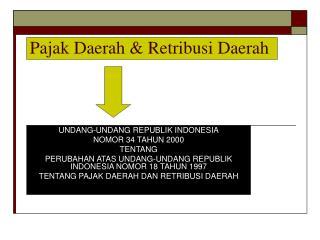 Pajak Daerah & Retribusi Daerah