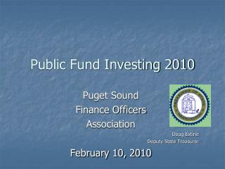 Public Fund Investing 2010