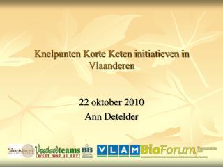 Knelpunten Korte Keten initiatieven in Vlaanderen