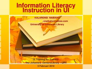 Information Literacy Instruction in UI