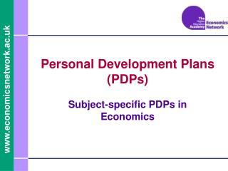 Personal Development Plans (PDPs)