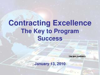 Contracting Excellence The Key to Program Success