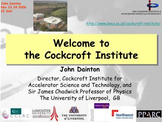 Welcome to the Cockcroft Institute