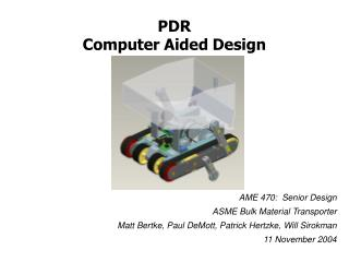 PDR Computer Aided Design