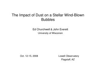 The Impact of Dust on a Stellar Wind-Blown Bubbles