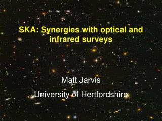 SKA: Synergies with optical and infrared surveys