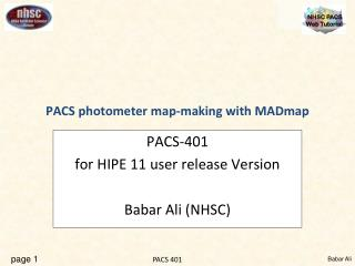 PACS photometer map-making with MADmap