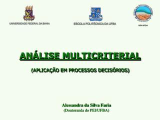 Alessandra da Silva Faria  (Doutoranda do PEI/UFBA)