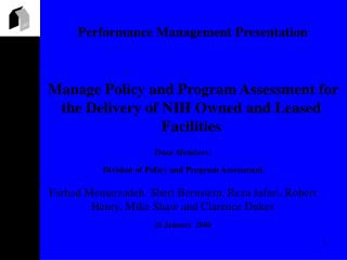 Performance Management Presentation
