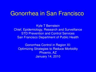 Gonorrhea in San Francisco