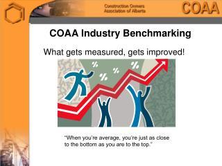 COAA Industry Benchmarking