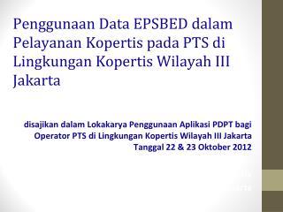 Landasan Hukum EPSBED