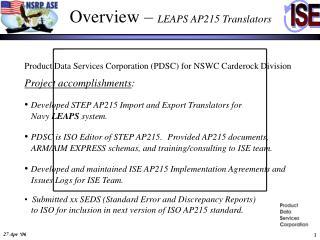 Overview –  LEAPS AP215 Translators