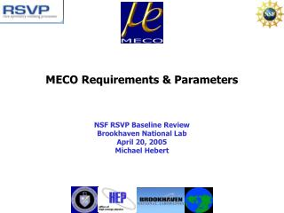 MECO Requirements & Parameters