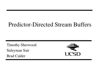 Predictor-Directed Stream Buffers