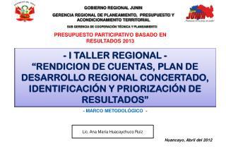 GOBIERNO REGIONAL JUNIN