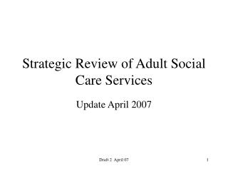 Strategic Review of Adult Social Care Services