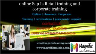 online Sap Is Retail training and corporate training