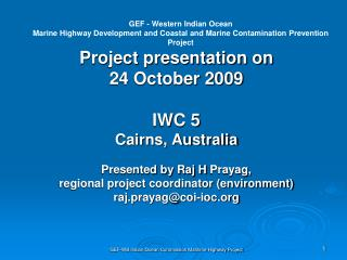 GEF - Western Indian Ocean
