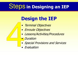 Design the IEP