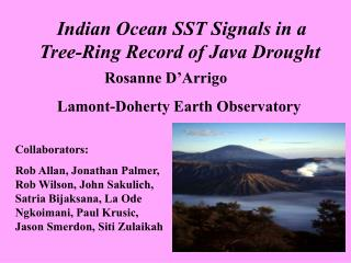 Indian Ocean SST Signals in a Tree-Ring Record of Java Drought