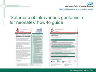 'Safer use of intravenous gentamicin for neonates' how-to guide