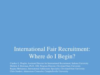 International Fair Recruitment:  Where do I Begin?
