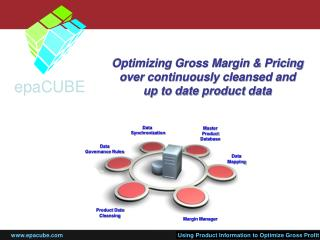 Optimizing Gross Margin & Pricing  over continuously cleansed and  up to date product data