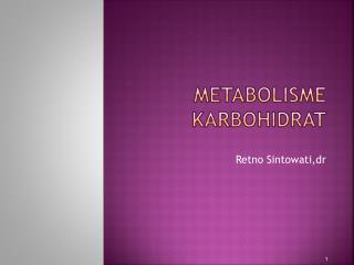 METABOLISME  K ARBOHIDRAT