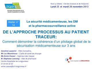 Caroline Lazzerini  -  Pdte Comedims,  Mr Luc Mouminoux  – Cadre de santé de chirurgie