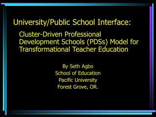 University/Public School Interface: