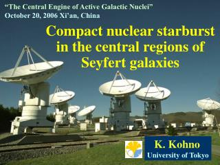 Compact nuclear starburst in the central regions of Seyfert galaxies